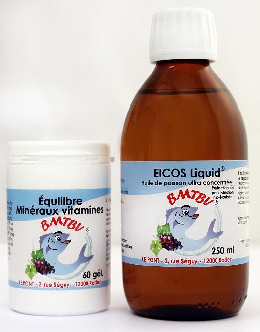 equilibre et mineraux 60 gel et EICOS 250ml PETITE