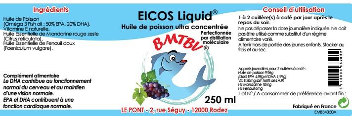 étiquette Eicos Liquid