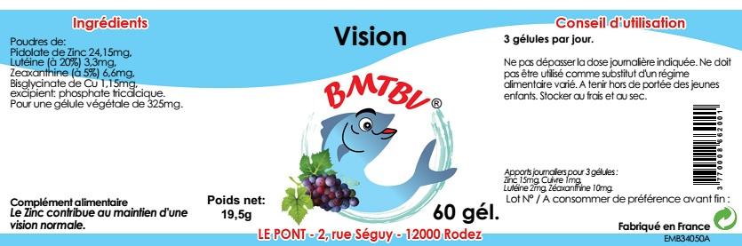 étiquette complète Complexe Vision